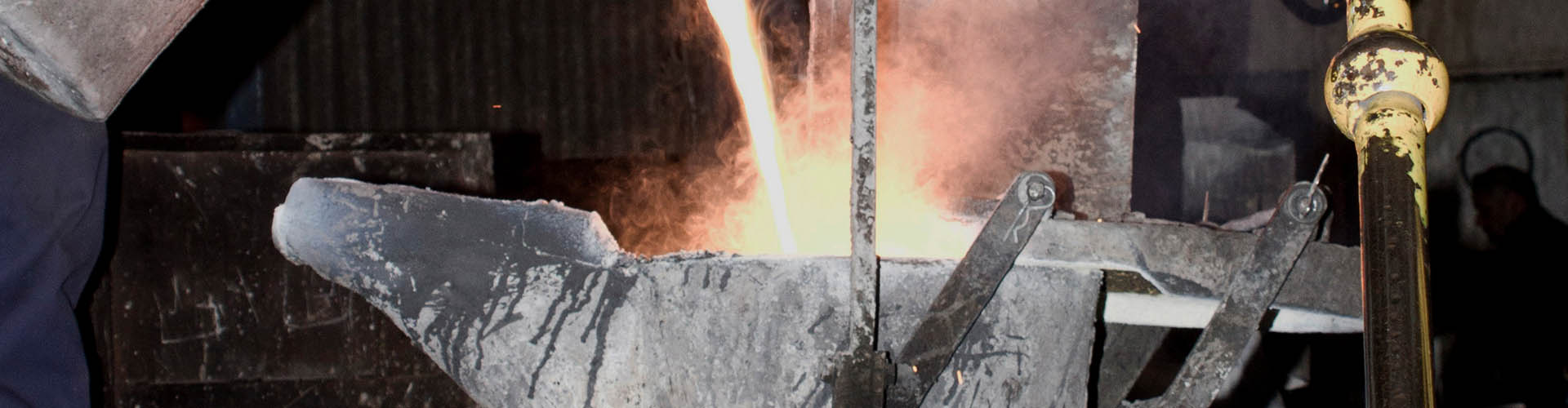 Pouring Metal Casting